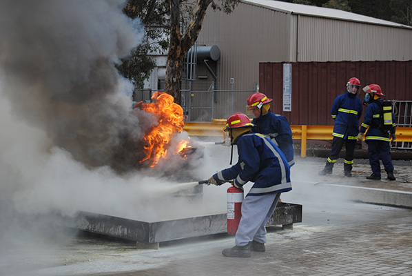 fire training and extinguishers